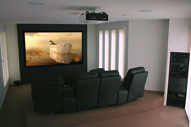 Small home theatre installation