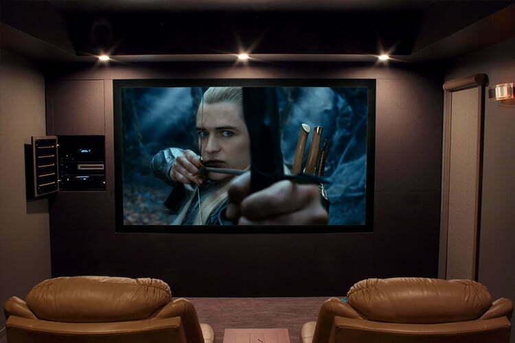 Small home theatre screen