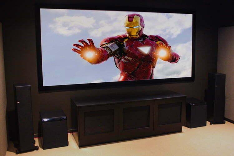 Home cinema finished installation